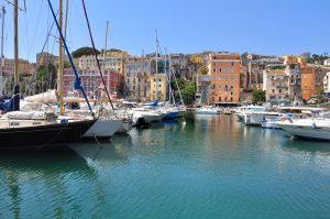 voiliers amarrés dans le port de Bastia - Corse